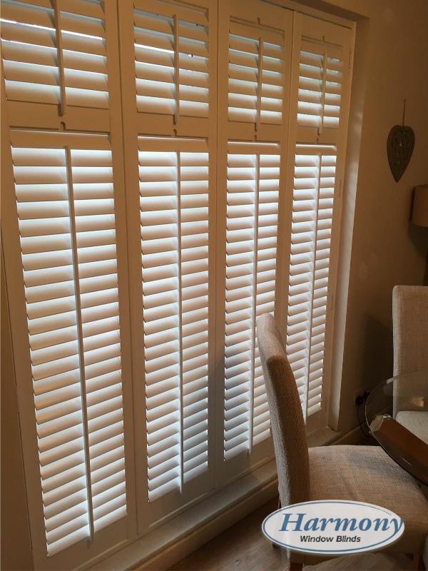 Full Height Shutters on Dining Room Patio Doors