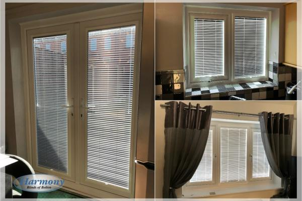 Full House of White Perfect Fit Venetian Blinds