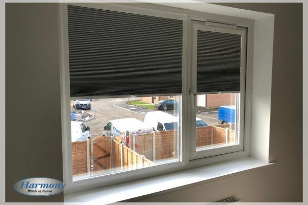 Grey Perfect Fit Duette Blinds