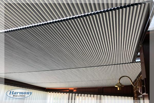 Hive Blackout Grey Pleated Roof Blinds