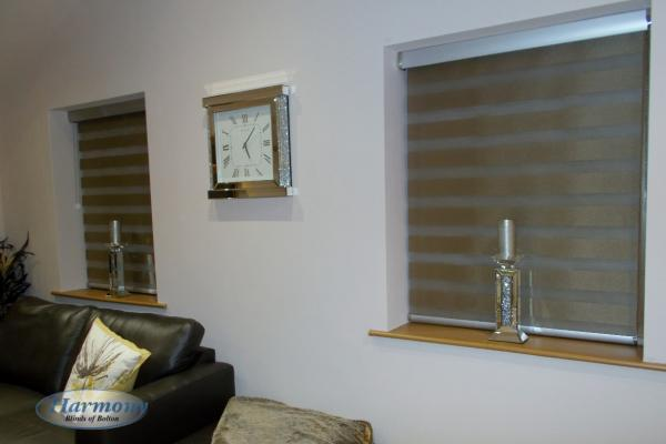 Mirage Day and Night Blinds with Silver Finishing Touches