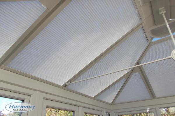 Perfect Fit Cellular Pleated Roof Blinds in Conservatory Roof