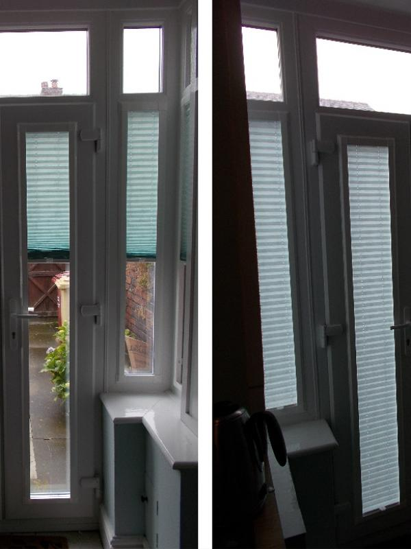 Perfect Fit Pleated Blinds in a Porch