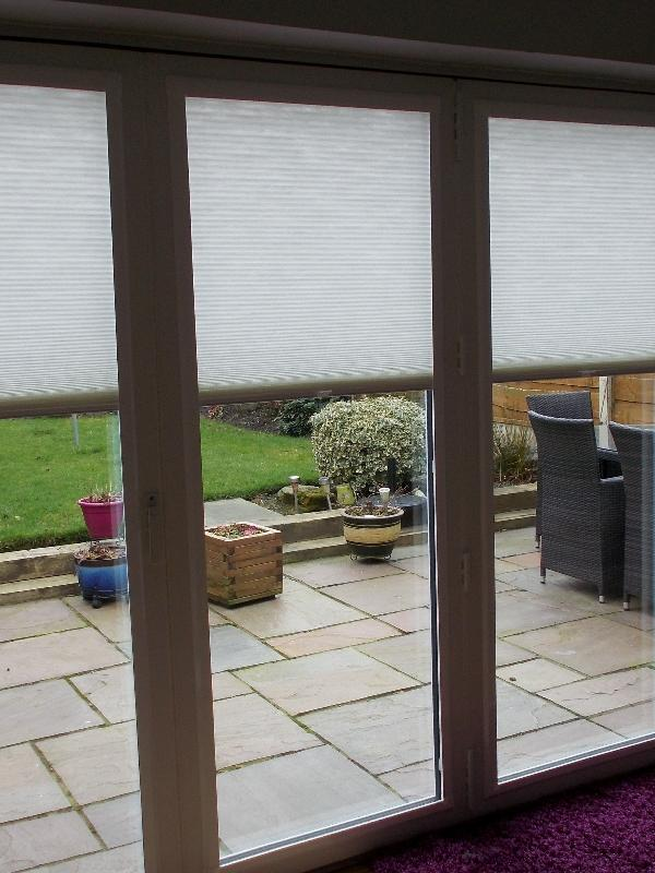 Perfect Fit Pleated Blinds on a Patio Door