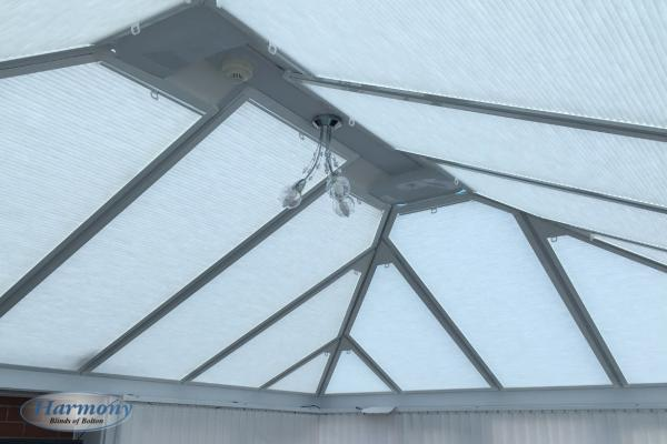 Perfect Fit Roof Blinds in a Conservatory