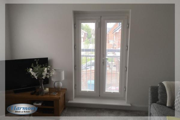 Perfect Fit Venetian Blinds in a Juliet Window