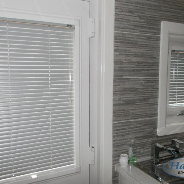 Perfect Fit Venetian Blinds in a Kitchen Door and Window