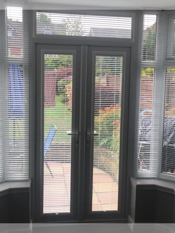 Perfect Fit Venetian Blinds in an Entrance Way