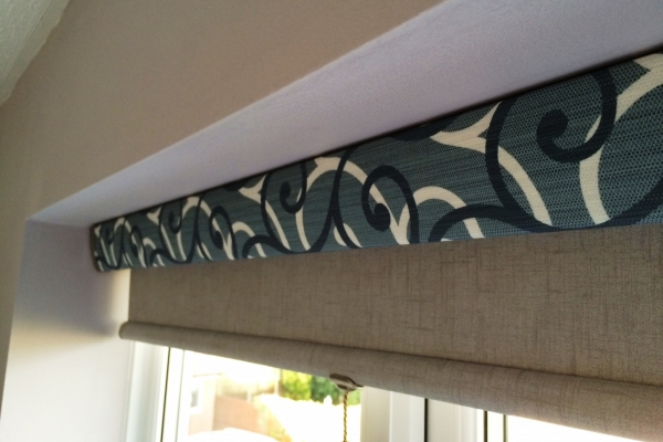 Roller Blind with patterned cassette for a striking look