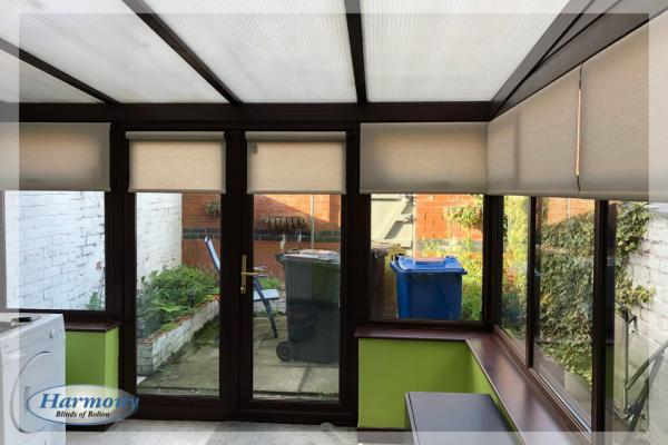 Roller Blinds in a Conservatory