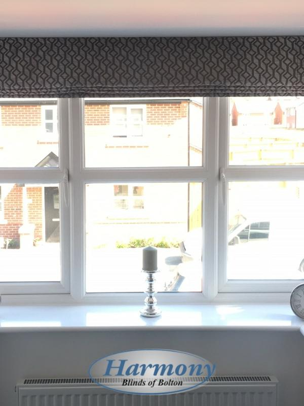 Roman Blinds in a Square Bay Window