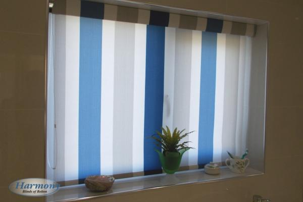 Stripy Roller Blind in a matching cassette