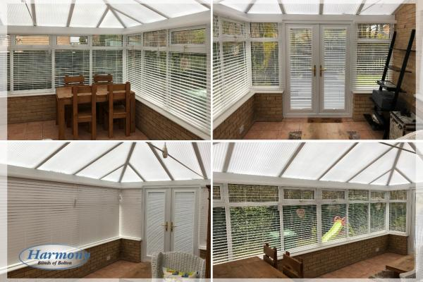 Venetian Blinds in a Conservatory Bolton