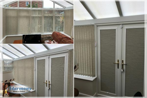 Vertical Conservatory Blinds and Perfect Fit Door Blinds