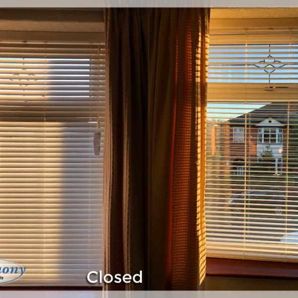 Wooden Blind - Open & Closed