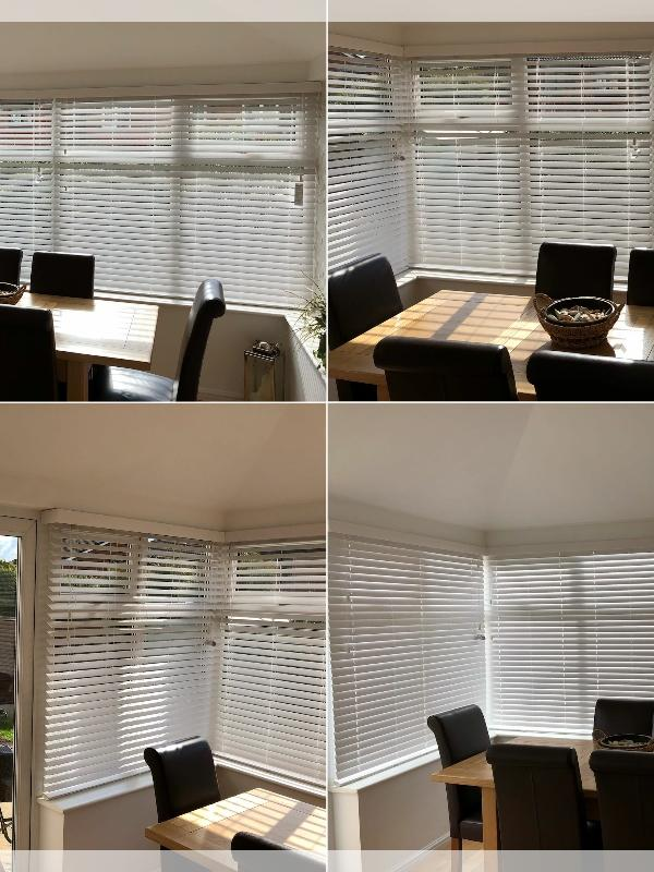 Wooden Venetian Blinds in a Conservatory
